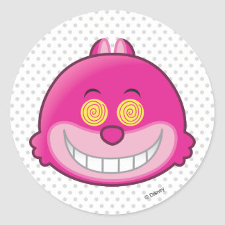 Alice in Wonderland | Cheshire Cat Emoji Classic Round Sticker