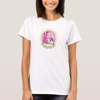 Alice in Wonderland Cheshire Cat grinning flowers T-Shirt