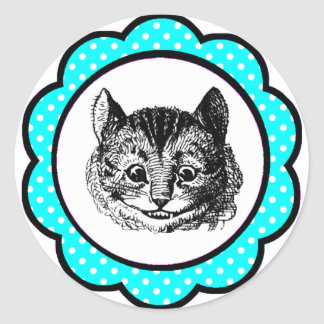 Alice In Wonderland Cheshire Cat Party Favors Classic Round Sticker