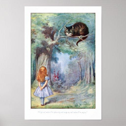 Alice in Wonderland Cheshire Cat Print Poster