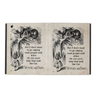 Alice in Wonderland; Cheshire Cat with Alice iPad Covers