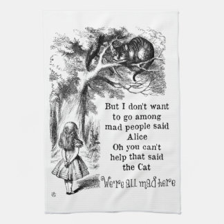 Alice in Wonderland; Cheshire Cat with Alice Kitchen Towel