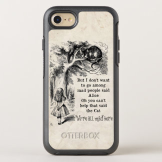 Alice in Wonderland; Cheshire Cat with Alice OtterBox Symmetry iPhone 8/7 Case