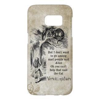 Alice in Wonderland; Cheshire Cat with Alice Samsung Galaxy S7 Case