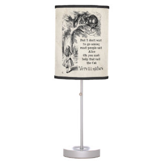 Alice in Wonderland; Cheshire Cat with Alice Table Lamp