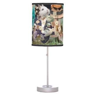 Alice in Wonderland collage Table Lamp
