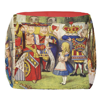 Alice in Wonderland cube puff Pouf