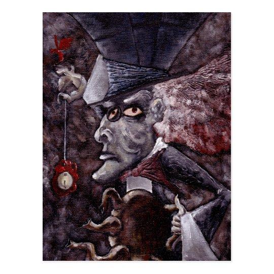 Alice in Wonderland Cubist MAD HATTER Postcard