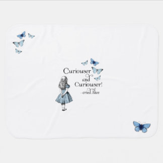 Alice in Wonderland Curiouser Baby Blanket