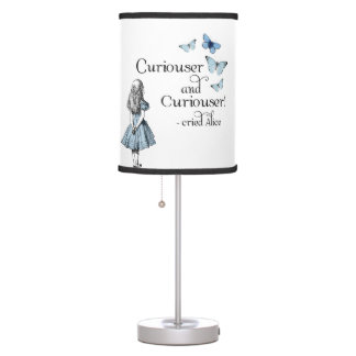 Alice in Wonderland Curiouser Butterflies Lamp