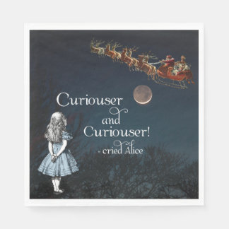 Alice in Wonderland Curiouser Christmas Napkins Paper Napkin