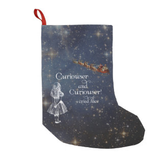 Alice in Wonderland Curiouser Christmas Stocking