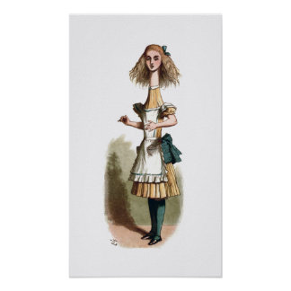 Alice in Wonderland Curiouser Poster Print