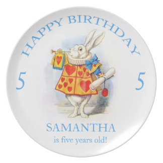 Alice in Wonderland Custom Birthday Party Plate