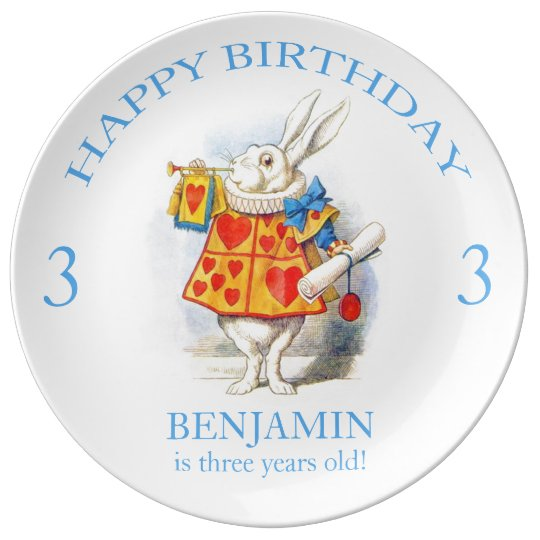 Alice in Wonderland Custom Birthday Party Plate Porcelain Plates