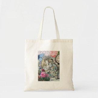 Alice in Wonderland Dodo Bird Collage Tote Bag