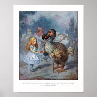 Alice in Wonderland Dodo Tenniel Print Poster