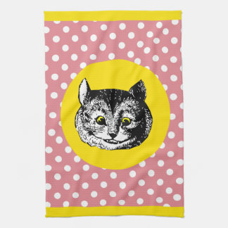 Alice in Wonderland Dotty Cheshire Cat Tea Towel