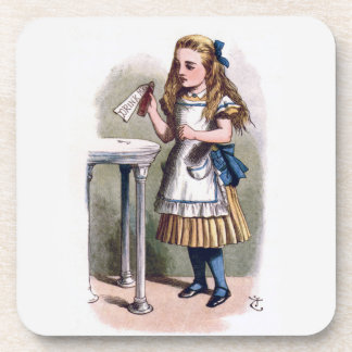 Alice in Wonderland Drink Me Cork Coaster Set