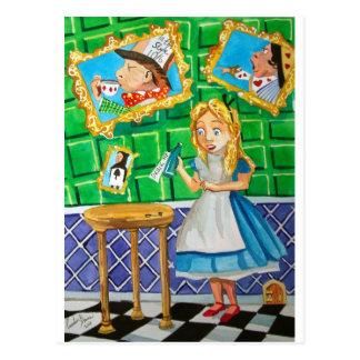 Alice in wonderland, drink me. Mad hatter Postcard