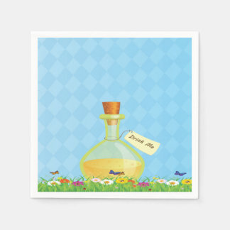 Alice in Wonderland Drink Me Napkins Disposable Napkins