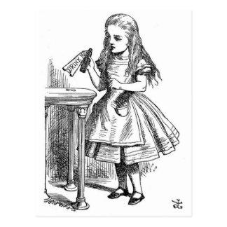 Alice in Wonderland drink me Postcard