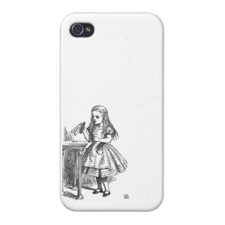 Alice in Wonderland Drink Me vintage sketch girly iPhone 4 Cover