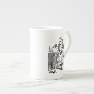 Alice in Wonderland Drink Me vintage sketch Tea Cup