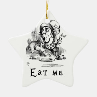 Alice in Wonderland - Eat me Ceramic Star Ornament
