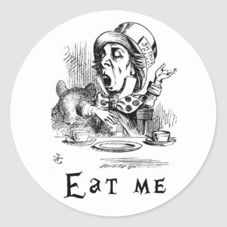 Alice in Wonderland - Eat me Classic Round Sticker