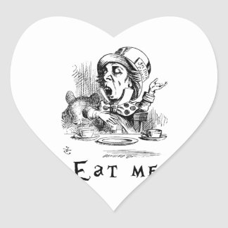 Alice in Wonderland - Eat me Heart Sticker