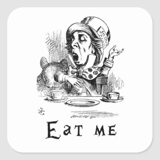 Alice in Wonderland - Eat me Square Sticker