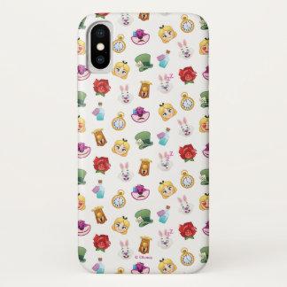 Alice In Wonderland Emoji  Pattern iPhone X Case