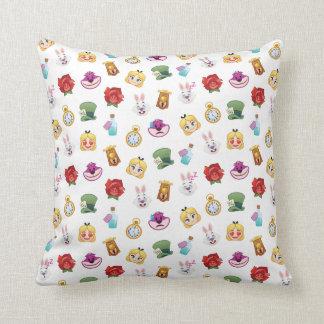 Alice In Wonderland Emoji  Pattern Throw Pillow