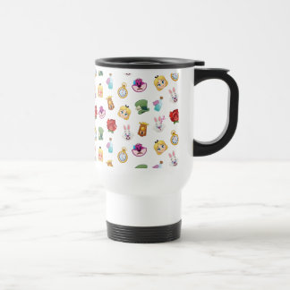 Alice In Wonderland Emoji  Pattern Travel Mug