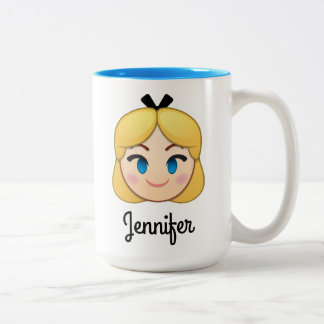 Alice In Wonderland Emoji Two-Tone Coffee Mug