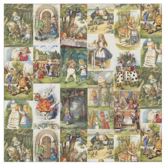 Alice in Wonderland Fabric