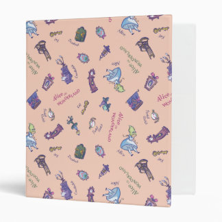Alice In Wonderland | Falling Down Pattern 3 Ring Binders