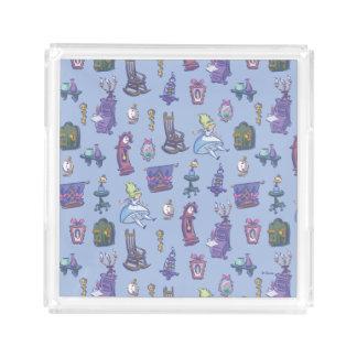 Alice In Wonderland   Falling Down Pattern Blue Acrylic Tray
