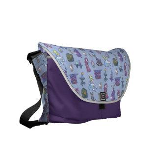 Alice In Wonderland | Falling Down Pattern Blue Commuter Bag