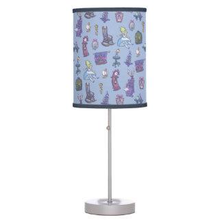 Alice In Wonderland | Falling Down Pattern Blue Desk Lamps