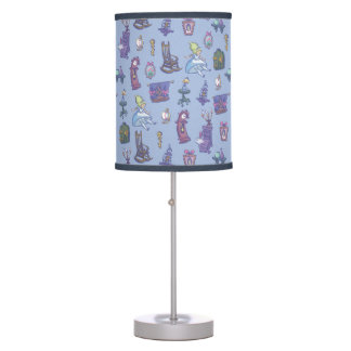 Alice In Wonderland | Falling Down Pattern Blue Table Lamp