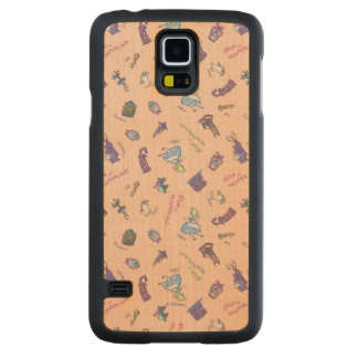Alice In Wonderland | Falling Down Pattern Carved Maple Galaxy S5 Case