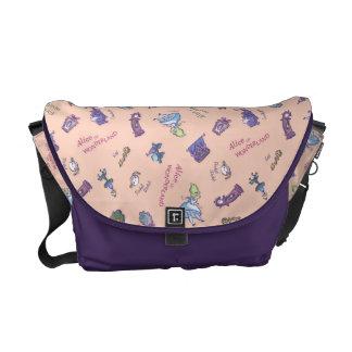 Alice In Wonderland | Falling Down Pattern Courier Bag