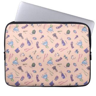 Alice In Wonderland   Falling Down Pattern Laptop Sleeve