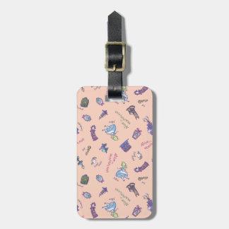 Alice In Wonderland | Falling Down Pattern Luggage Tag