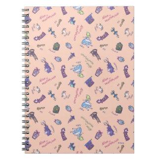 Alice In Wonderland   Falling Down Pattern Notebook