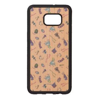 Alice In Wonderland | Falling Down Pattern Wood Samsung Galaxy S6 Edge Case