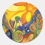 Alice In Wonderland Fantasy Fairy Sunshine Dream Round Sticker