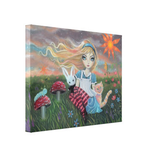 Alice in Wonderland Fantasy Fairytale Art Canvas